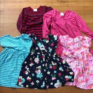 Lot of 6 Hanna Andersson dresses sz 110 US 5/6